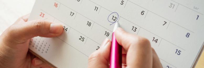 Calendar annually